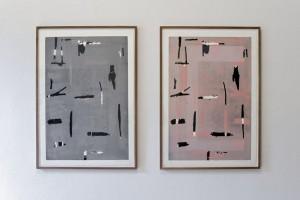 Heinrich Modersohn je O.T. 2012 Holzdruck von 2 Platten, 91 x 63 cm